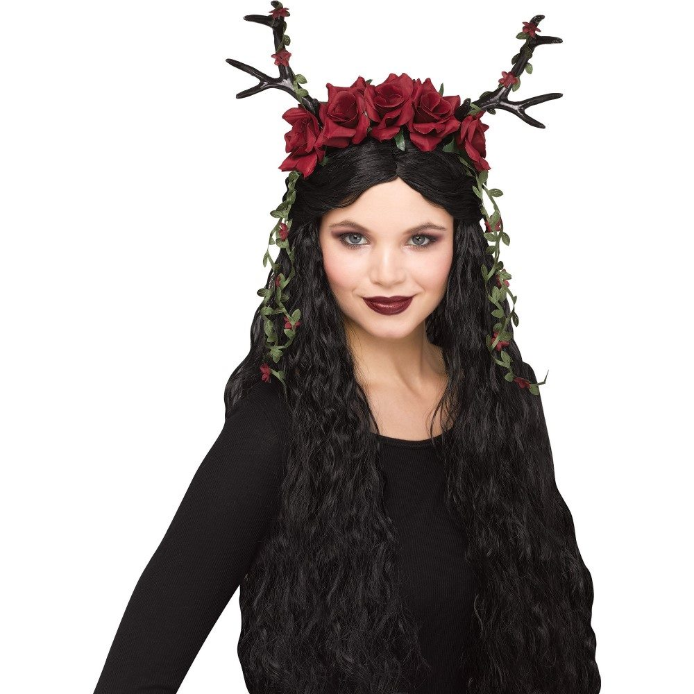 Picture of Red & Black Floral Fawn Headepiece