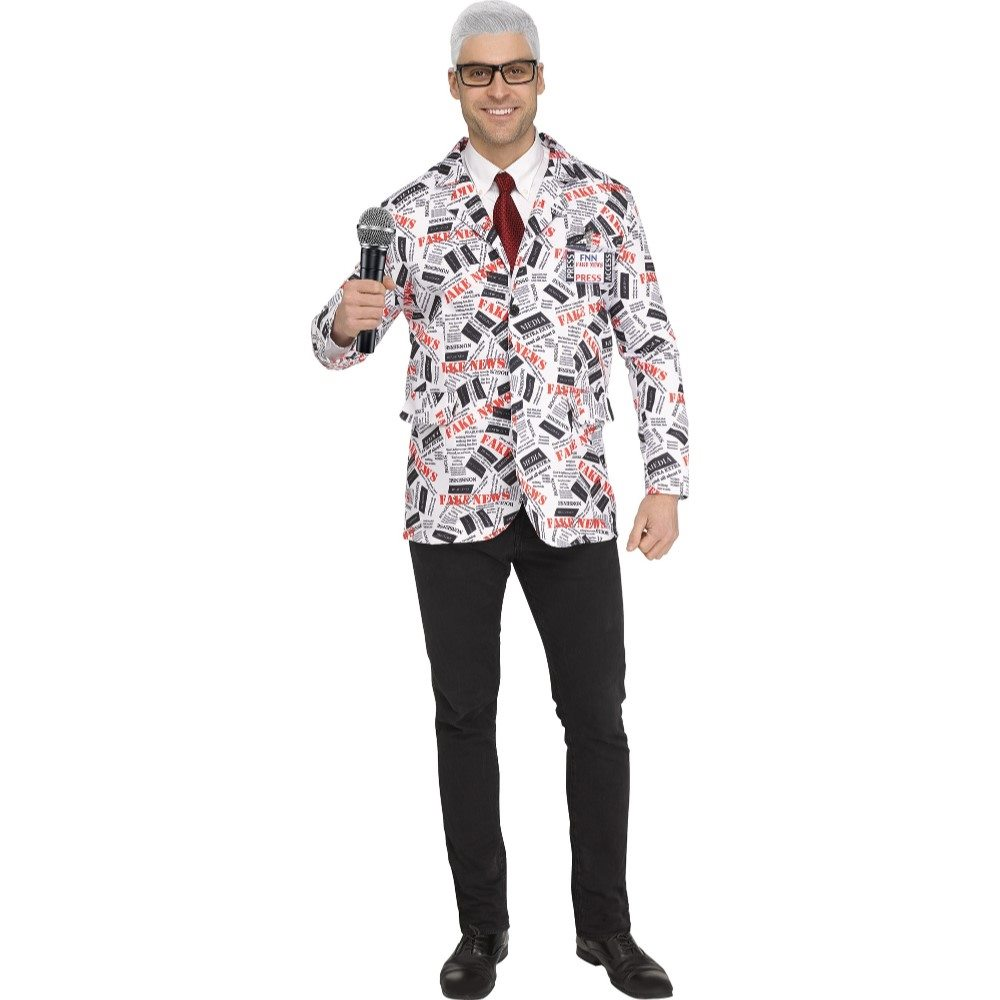 Picture of Fake News Reporter Adult Mens Jacket