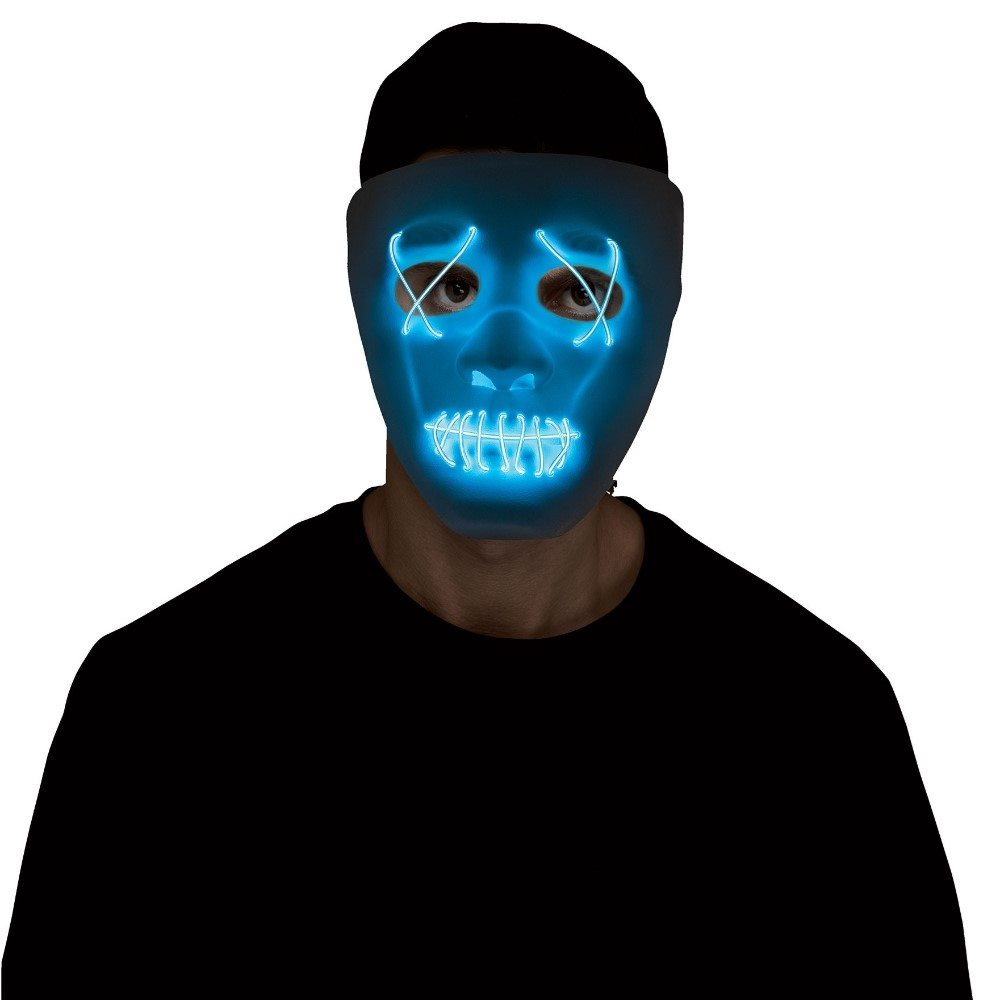 Picture of White & Blue Illumo Light-Up Mask