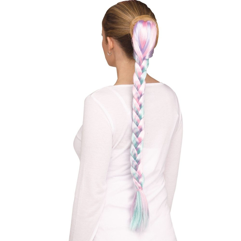 Picture of Braided Pastel Unicorn Tail
