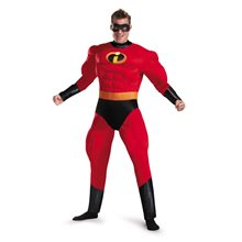 Picture of Mr. Incredible Deluxe Muscle Adult Mens Plus Size Costume