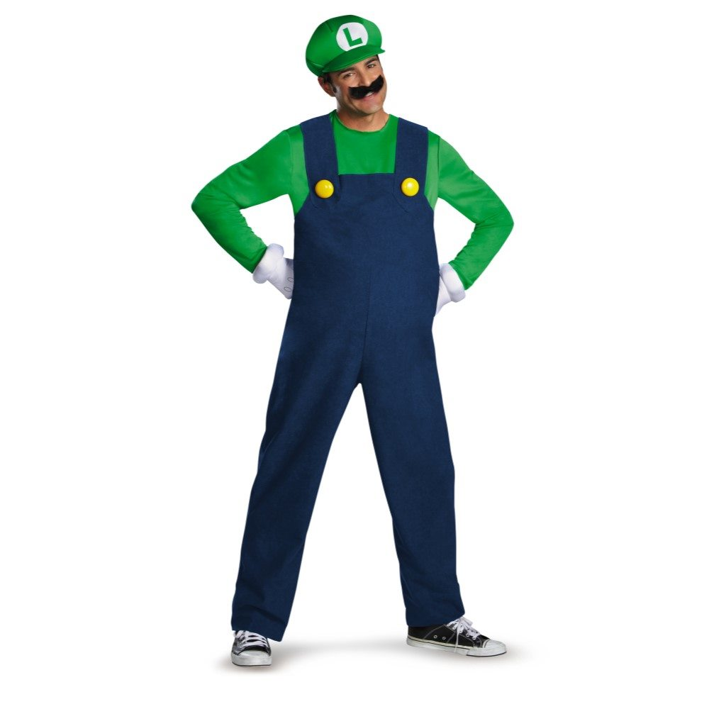 Picture of Luigi Deluxe Adult Mens Plus Size Costume