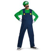 Picture of Luigi Deluxe Adult Mens Plus Size Costume