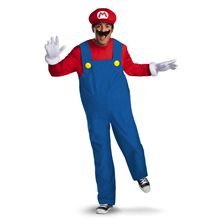 Picture of Mario Deluxe Adult Mens Plus Size Costume
