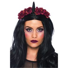 Picture of Dark Velvet Unicorn Flower Headband
