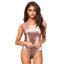 Picture of Pink Sequin Adult Womens Bodysuit
