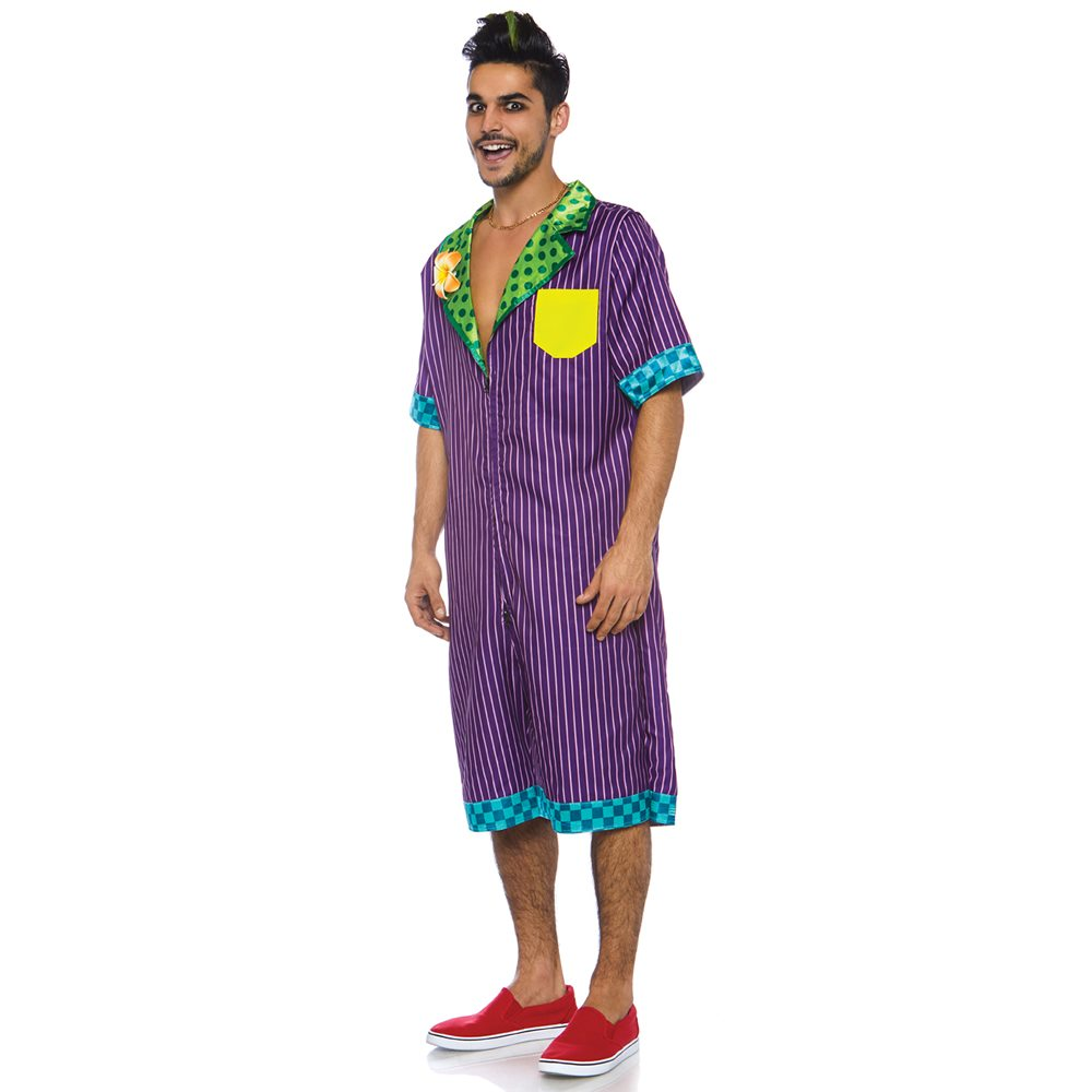 Picture of Villain Jokester Jumpsuit Adult Mens Costume
