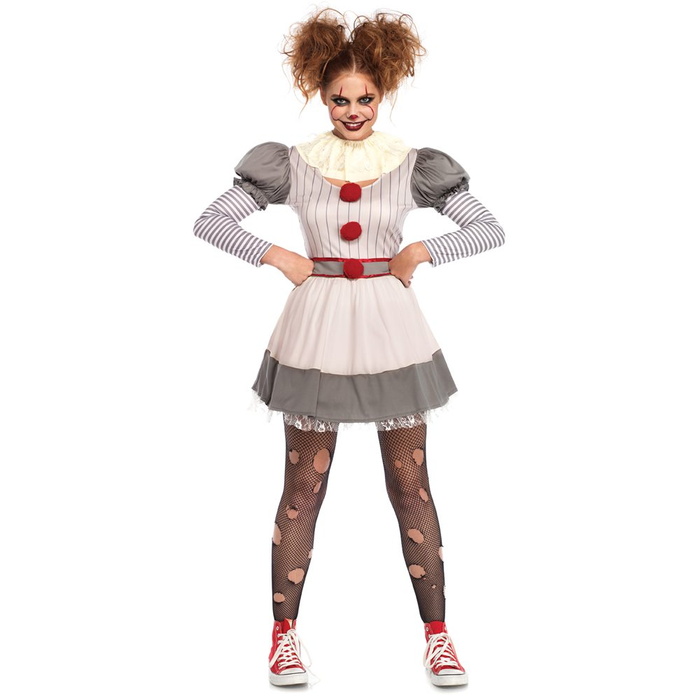 Picture of Creepy Carnival Clown Adult Womens Costume