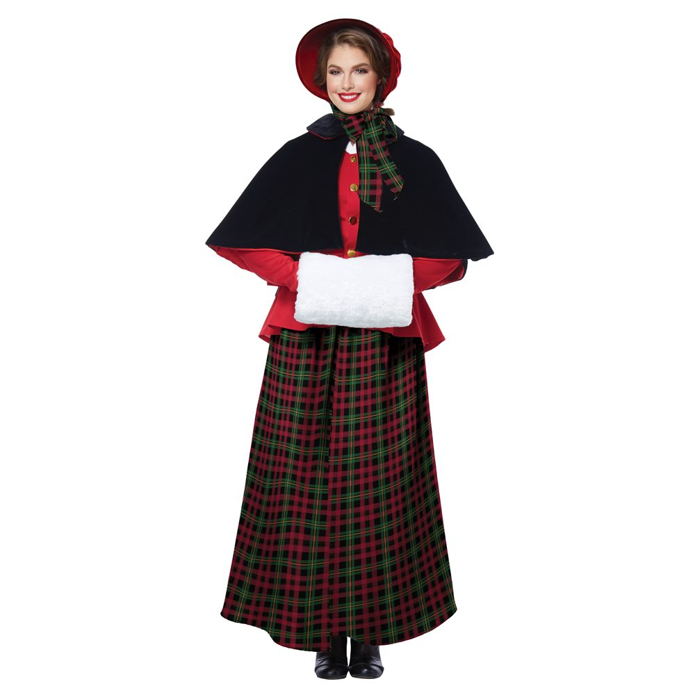 Picture of Holiday Caroler Adult Womens Costume