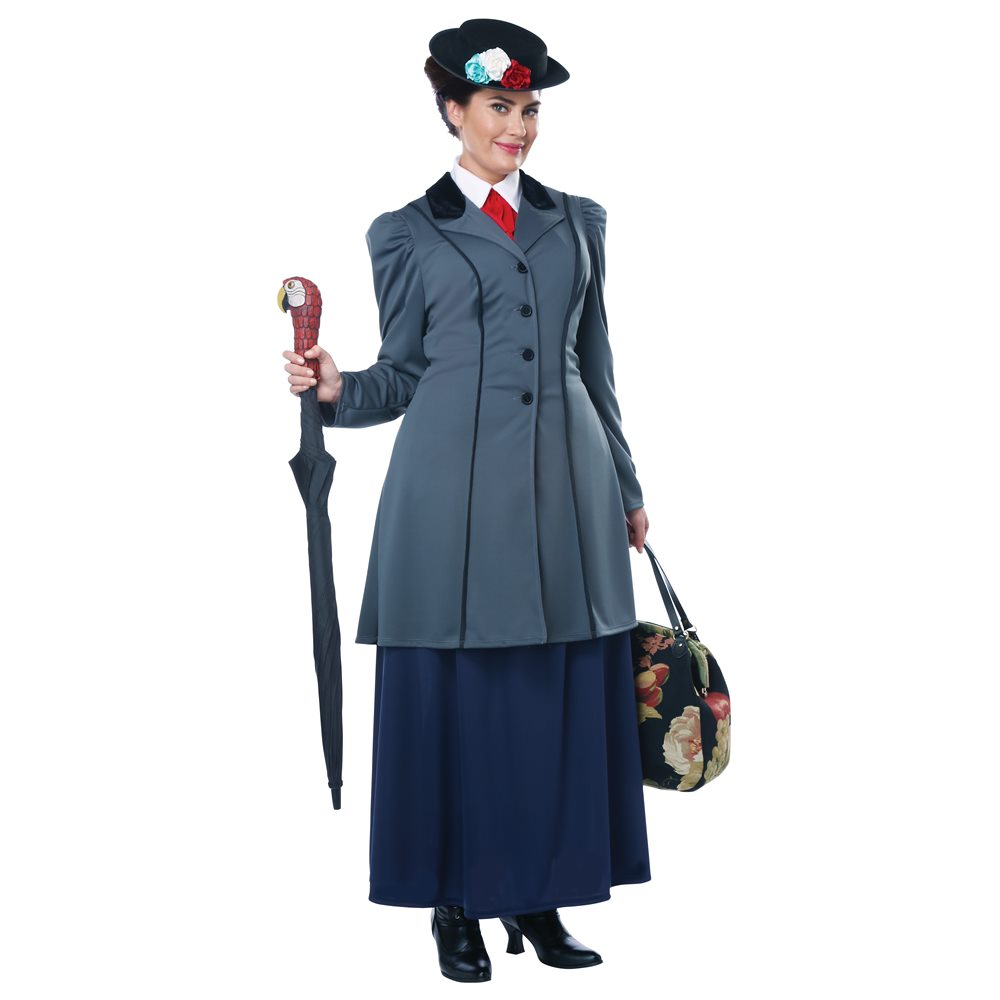 Picture of English Nanny Adult Womens Plus Size Costume