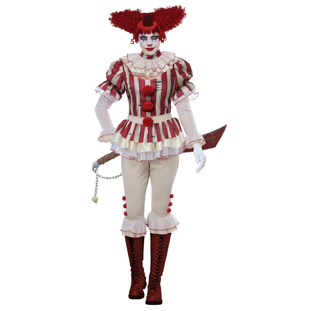 Picture of Sadistic Clown Adult Womens Costume