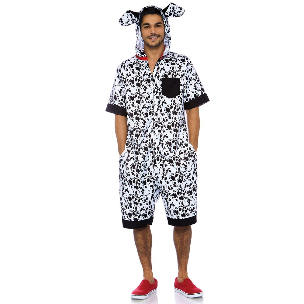 Picture of Dalmatian Dog Jumpsuit Adult Mens Costume
