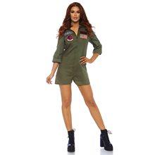 Picture of Top Gun Flight Suit Romper Womens Costume