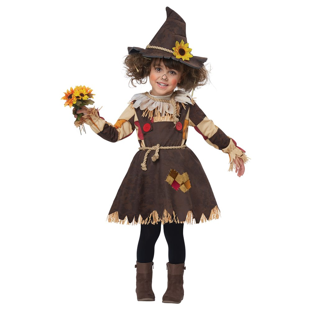 Picture of Pumpkin Patch Scarecrow Dress Toddler Costume