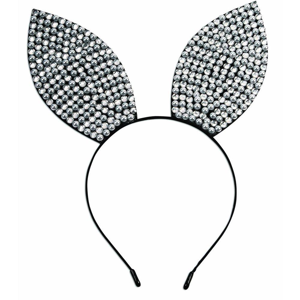 Picture of Rhinestone & Pearl Bunny Headband
