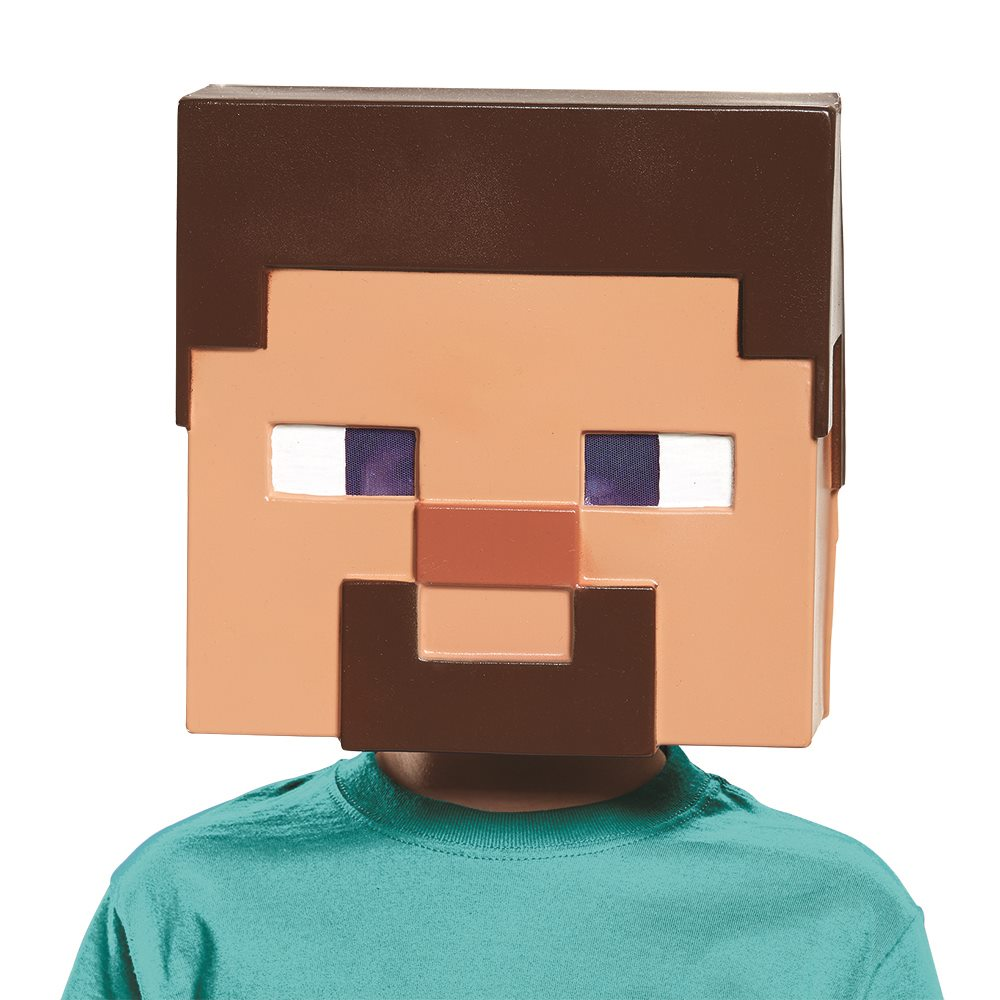 Picture of Minecraft Steve Child Half Mask