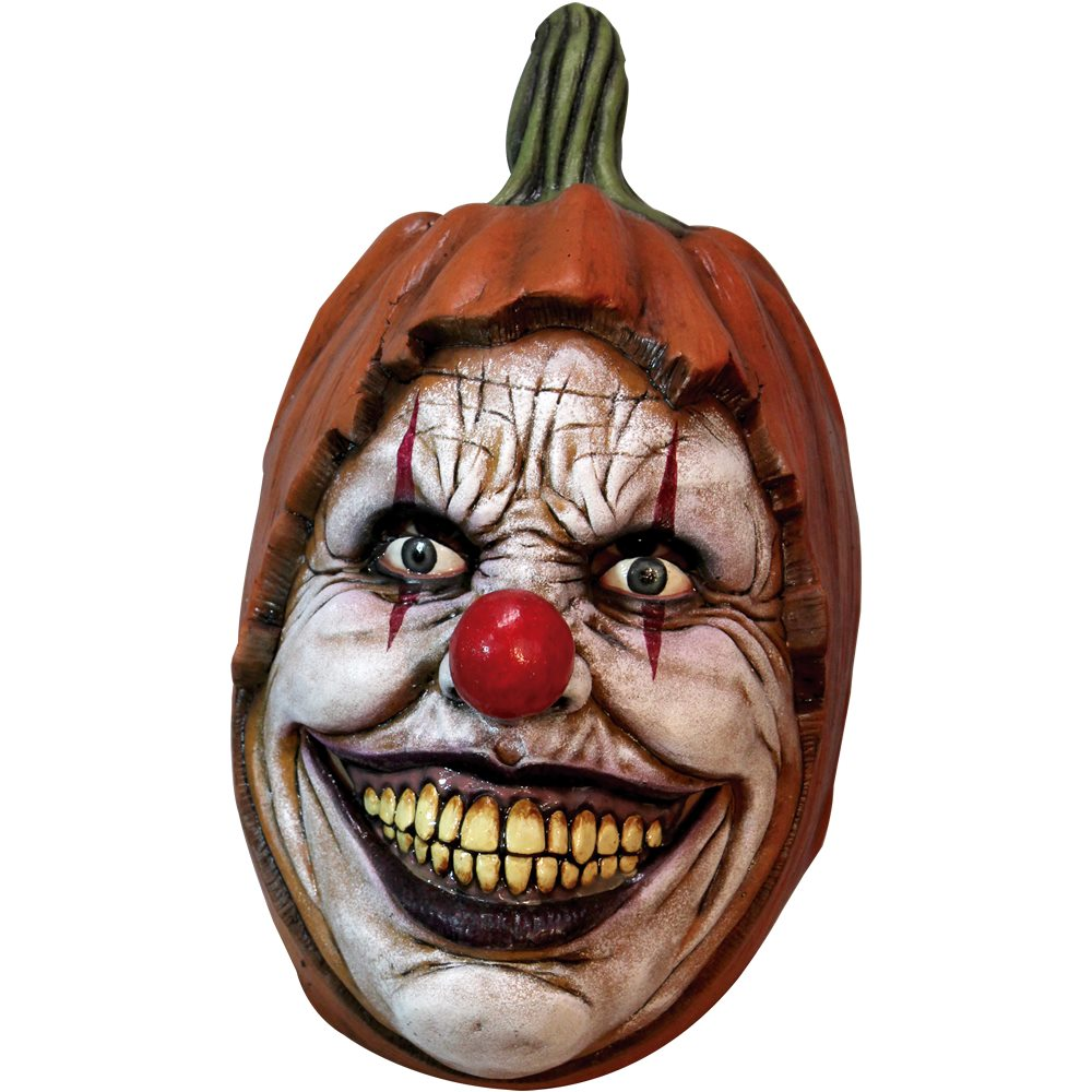 Picture of Carved Pumpkin Head Clown Mask
