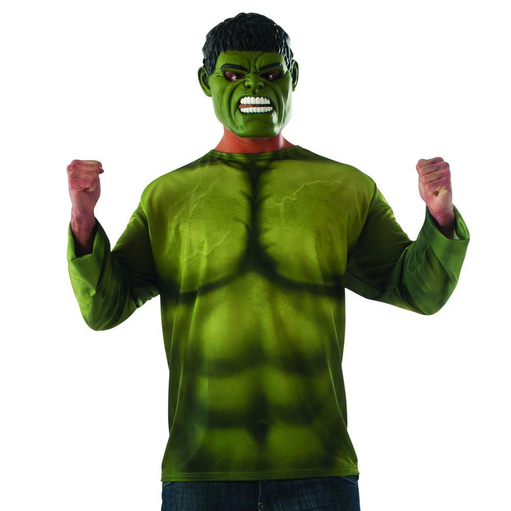 Picture of Avengers Infinity War Hulk Adult Mens Shirt & Mask