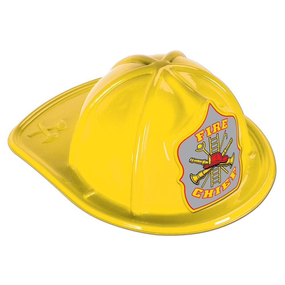 Picture of Yellow Fire Chief Plastic Hat