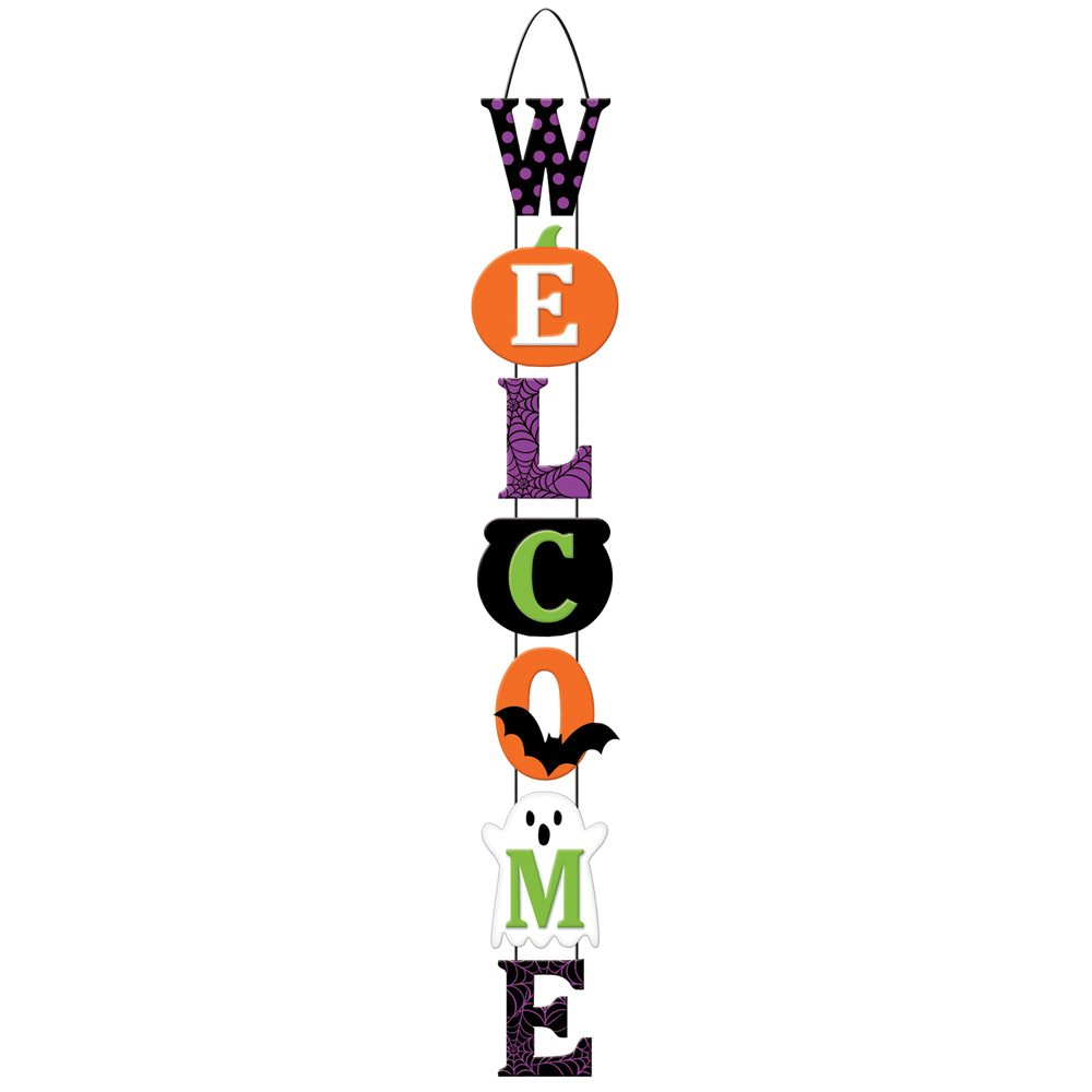 Picture of Halloween Deluxe Welcome Sign