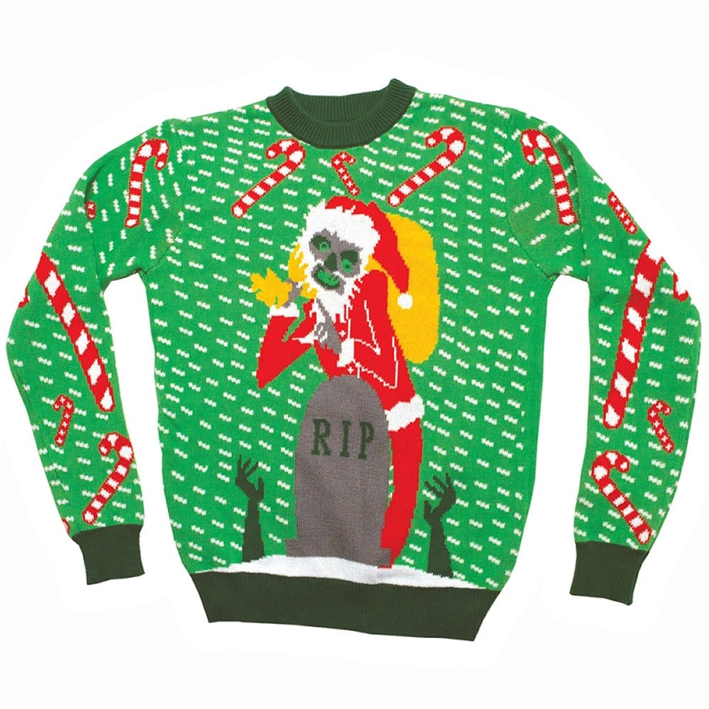Picture of Zombie Santa Adult Ugly Christmas Sweater