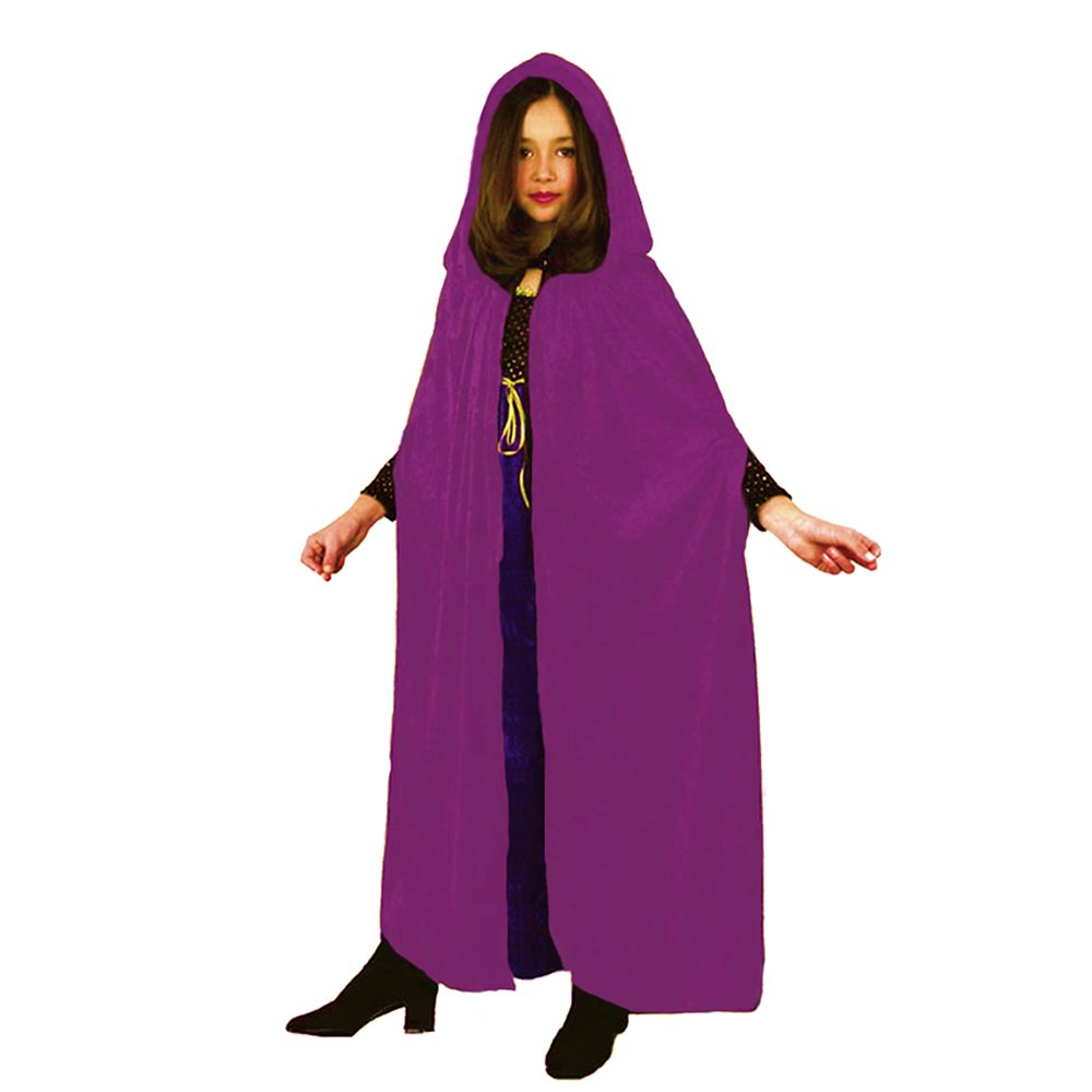 Picture of Fuchsia Velvet Hooded Child Cloak
