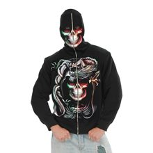 Picture of Serpent Skull Adult Mens Hoodie