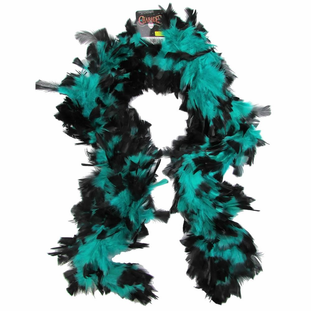 Picture of Jade & Black Feather Boa