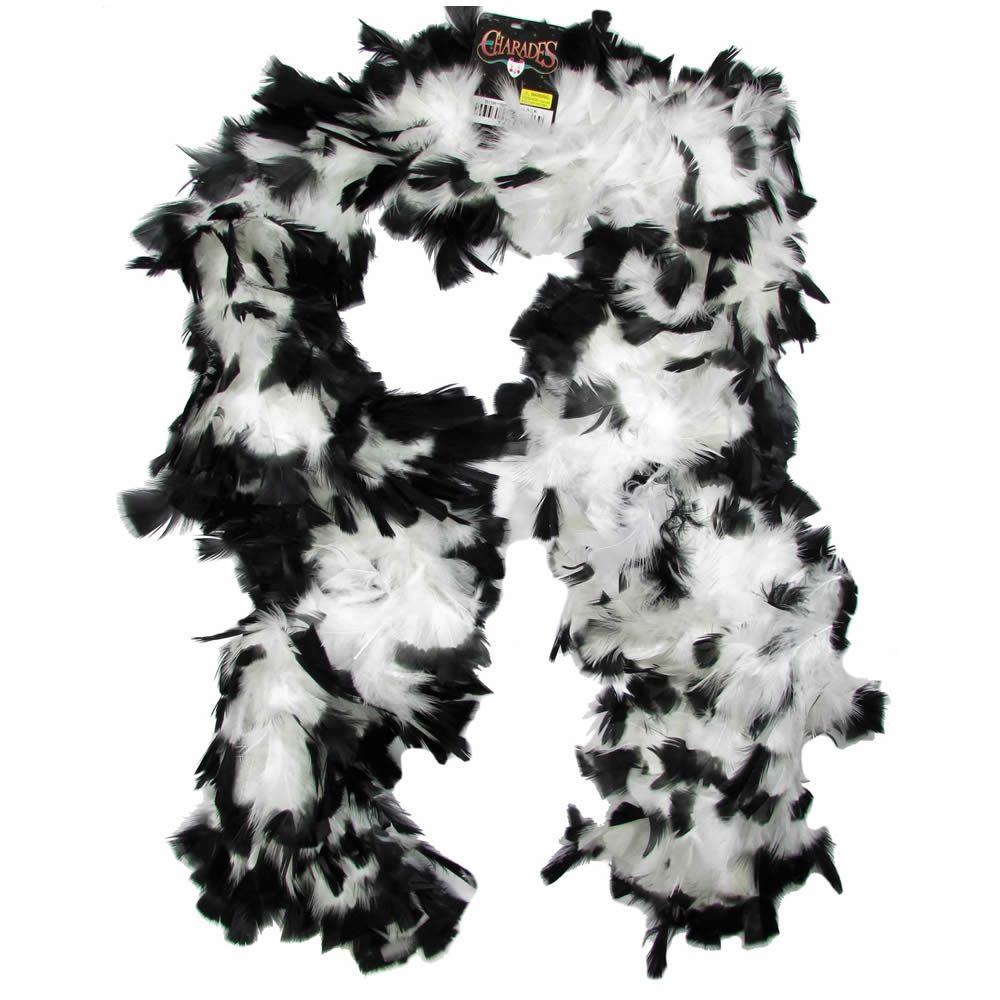 Picture of White & Black Feather Boa