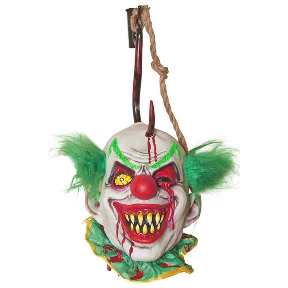 Picture of Hooked Clown Severed Head Prop