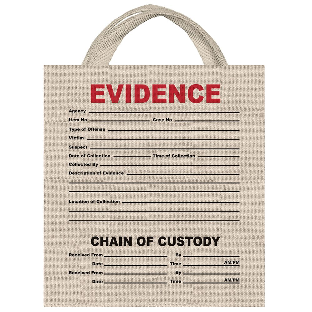 Picture of Evidence Canvas Treat Bag