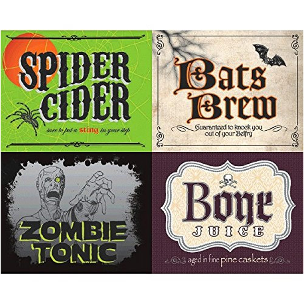 Picture of Halloween Party 2 Liter Bottle Labels 4ct