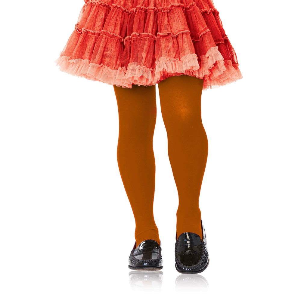 Picture of Orange Child Footed Tights