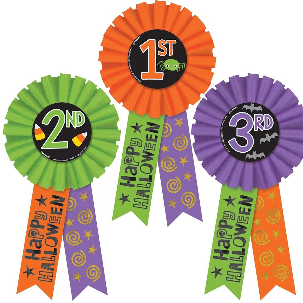 Picture of Halloween Award Ribbons 3ct