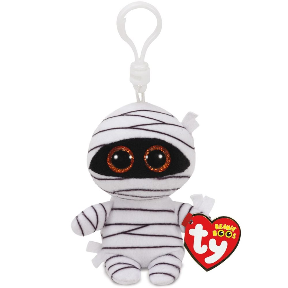 Picture of White Mummy Beanie Boo Clip