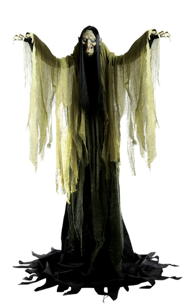 Picture of Life-Sized Hagatha the Towering Witch Animatronic 352917A - Open Box/Damaged (see details below)