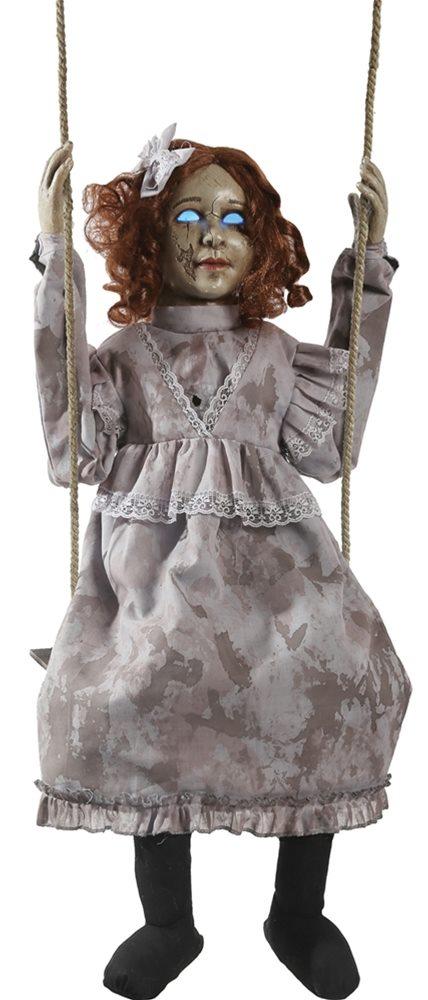 Picture of Swinging Decrepit Dessie Doll Animatronic - 375390A - Open Box/Damaged (see details below)