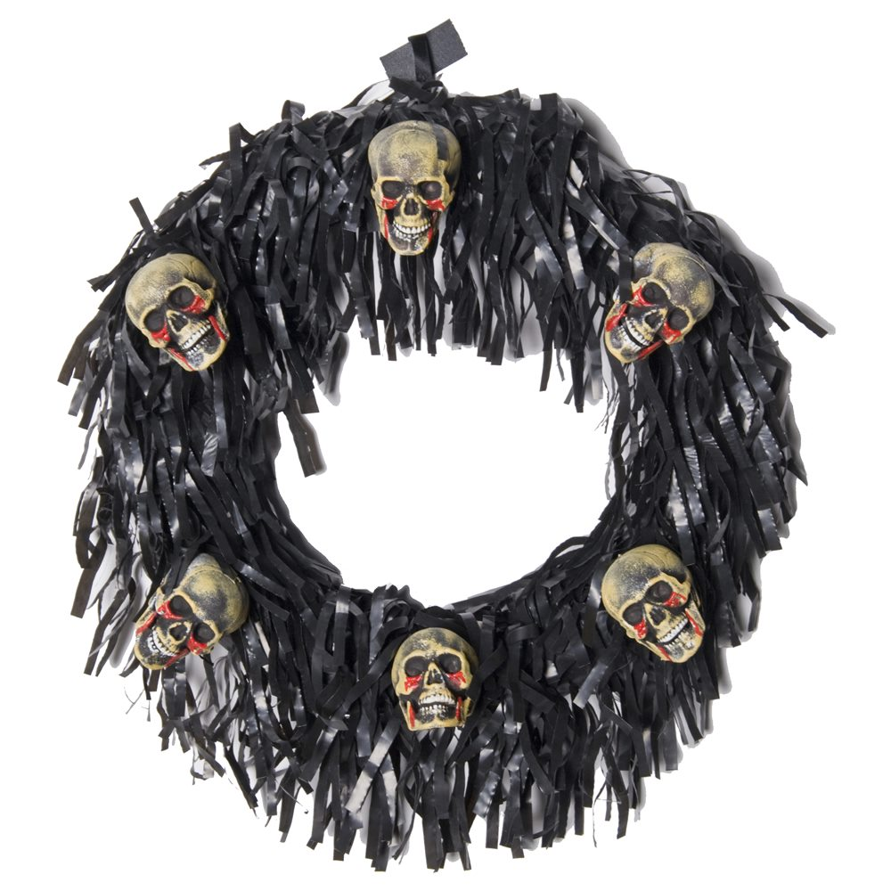 Picture of 6 Bloody Mini Skulls Halloween Wreath