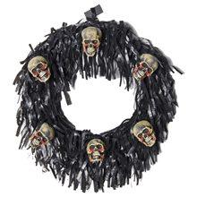 Picture of 6 Bloody Mini Skulls Halloween Wreath