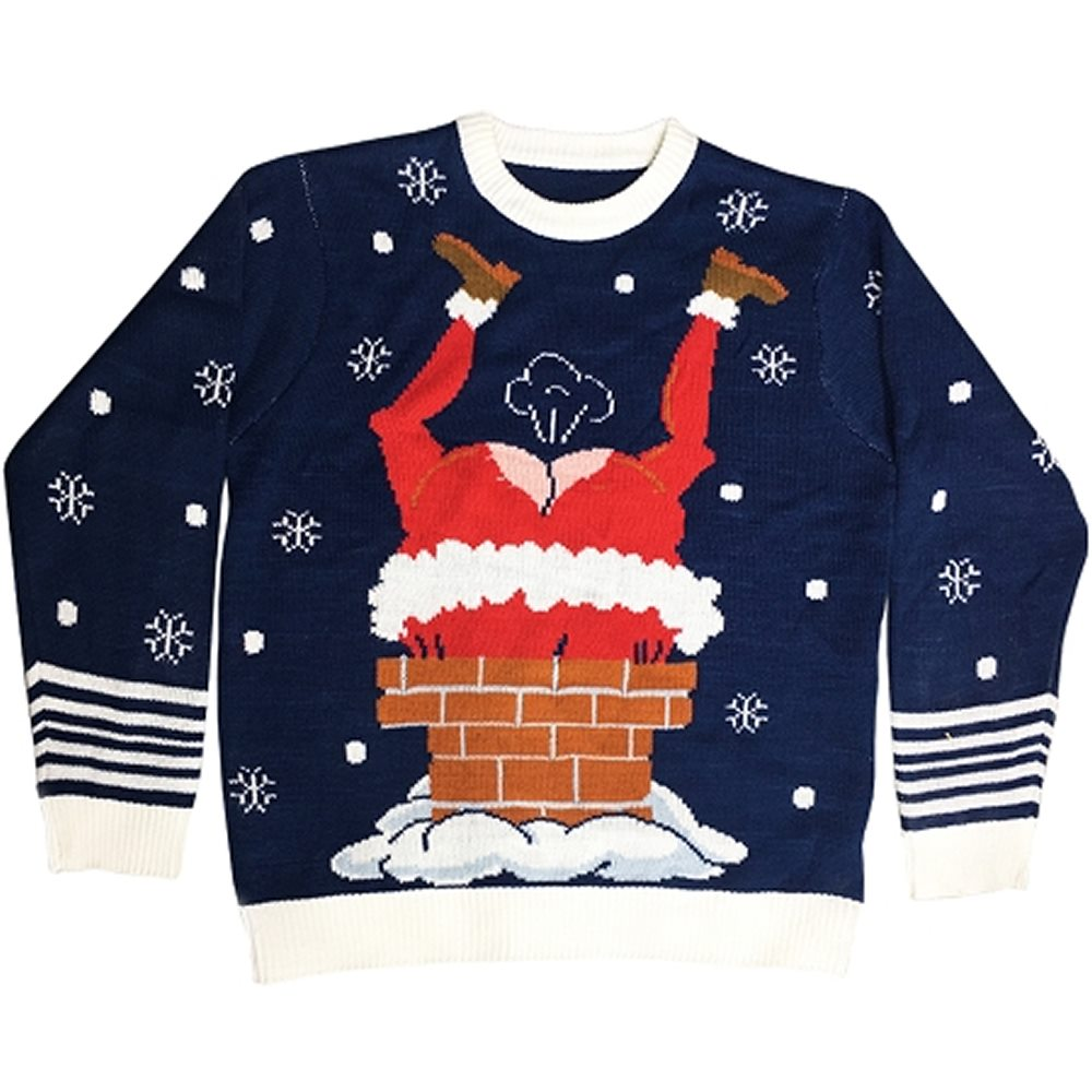 Picture of Gassy Santa Adult Ugly Christmas Sweater with Sound