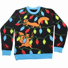 Picture of Squirrelly Lights Adult Ugly Christmas Sweater