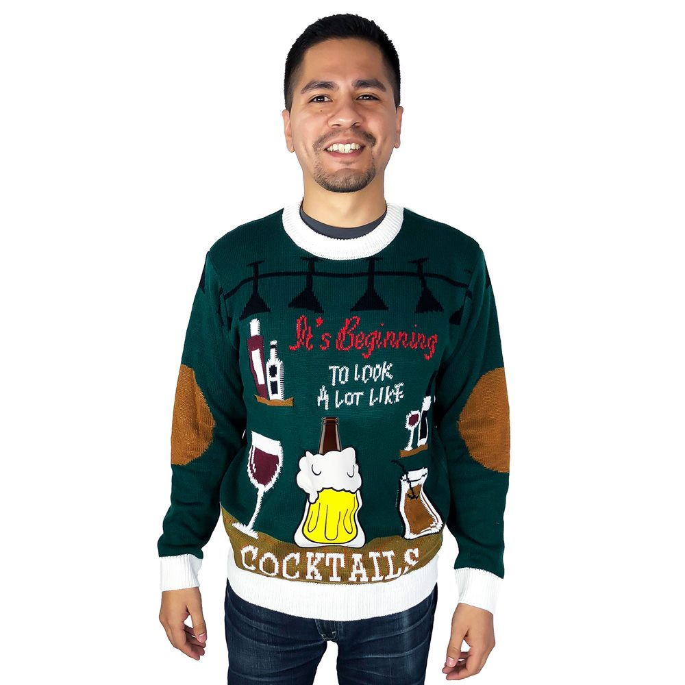 Picture of Looks Like Cocktails Adult Ugly Christmas Sweater