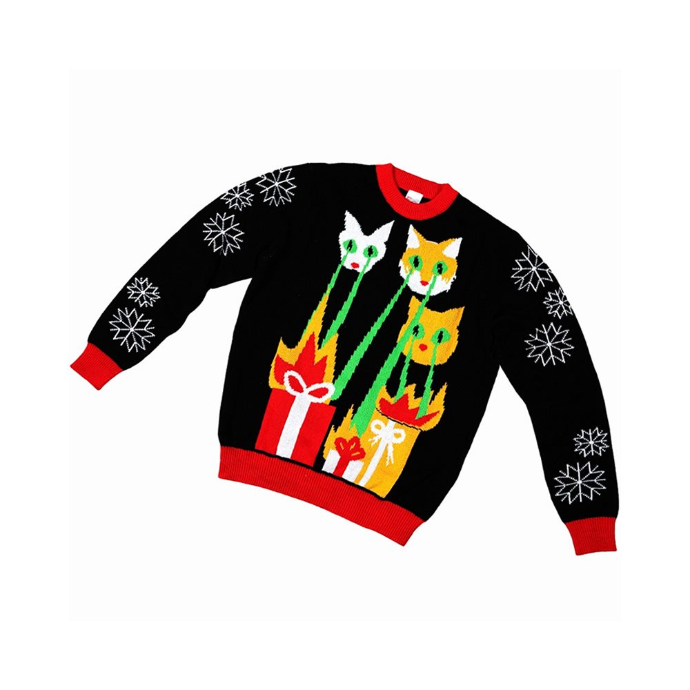 Picture of Laser Cat-Zillas Child Ugly Christmas Sweater