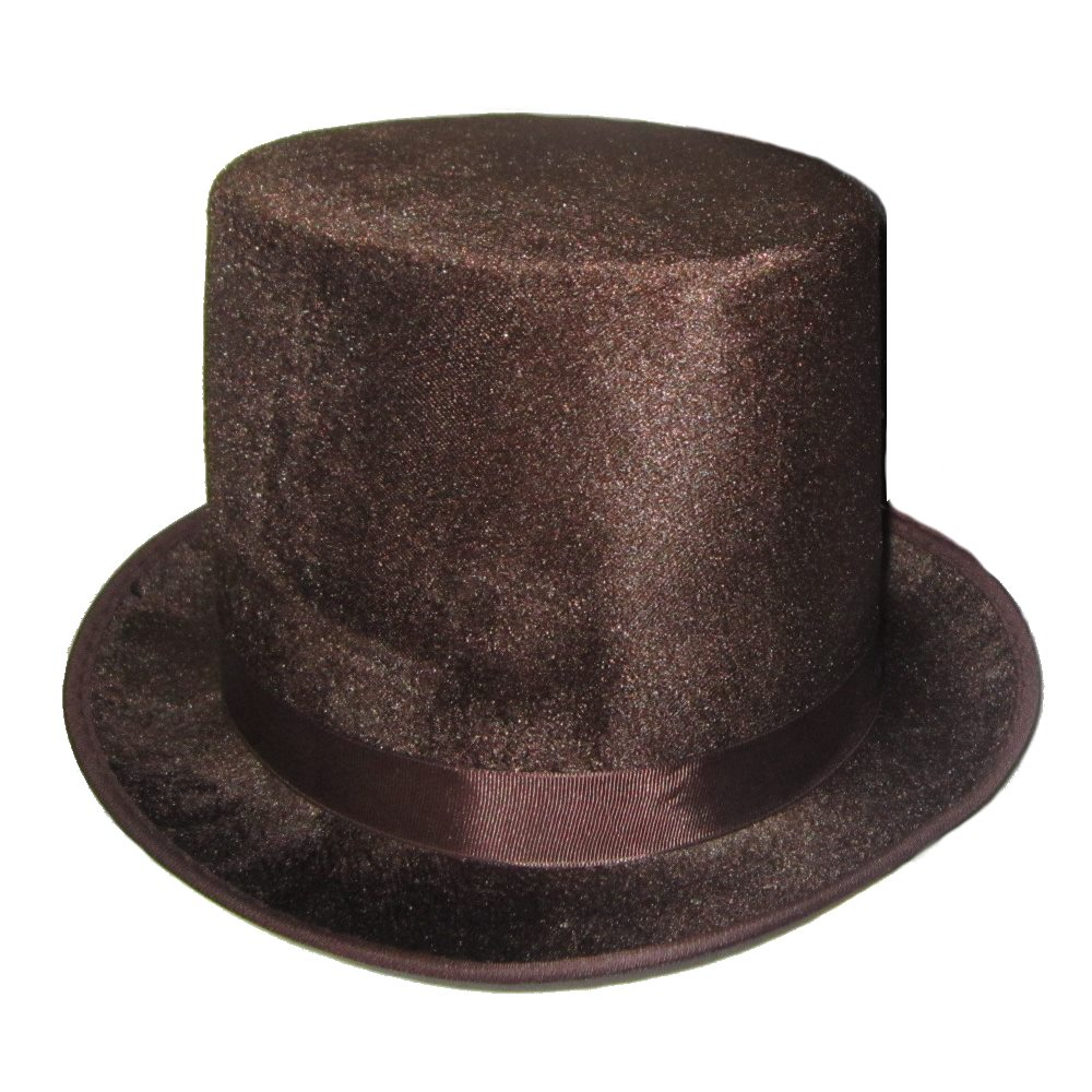 Picture of Brown Velvet Top Hat