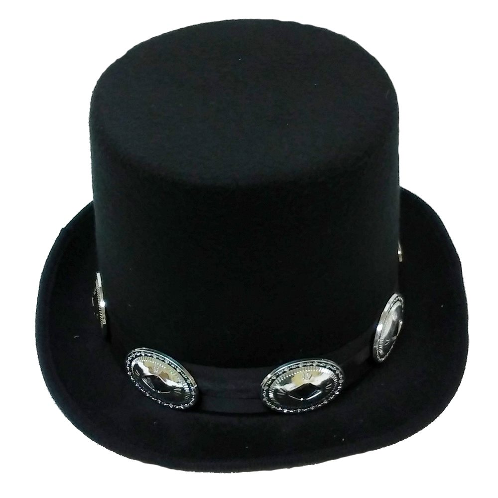 Picture of Black Top Hat with Medallions