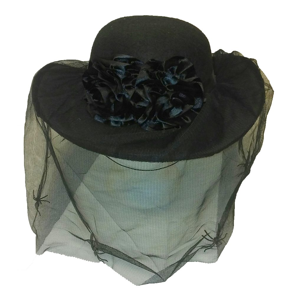 Picture of Mourning Veil Hat with Roses