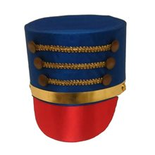 Picture of Satin Drum Major Hat with Gold Trim