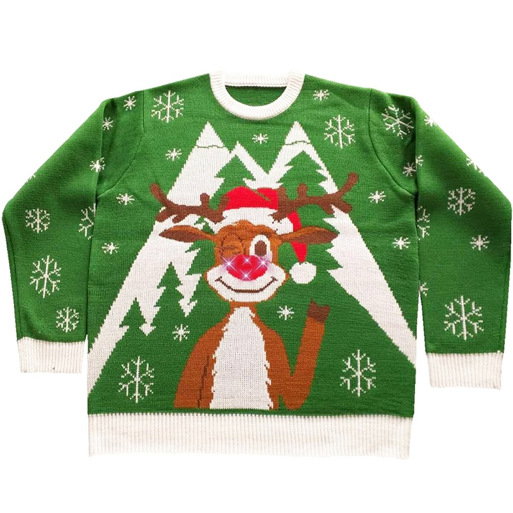 Picture of Hello Deer Light-Up Ugly Christmas Sweater