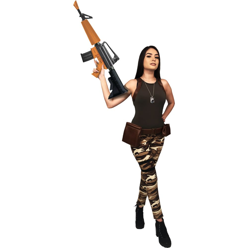 Picture of Sexy Fort Protector Camo Soldier Adult Womens Costume