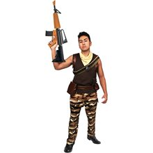 Picture of Fort Protector Camo Soldier Adult Mens Costume